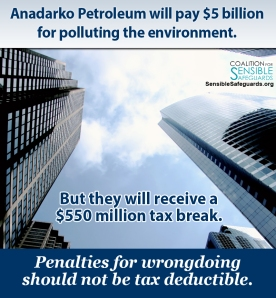 Anadarko Petroleum gets a $550 million tax break after historic environmental damage payment