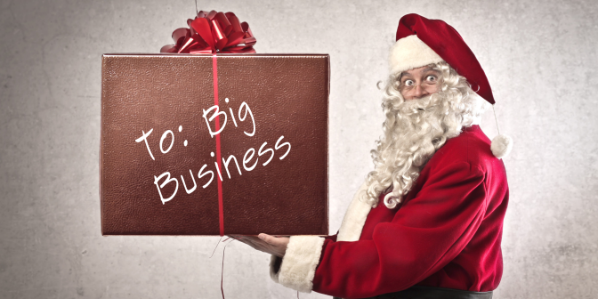 If Big Business Wrote a Letter to Santa Claus this is What It Would Say